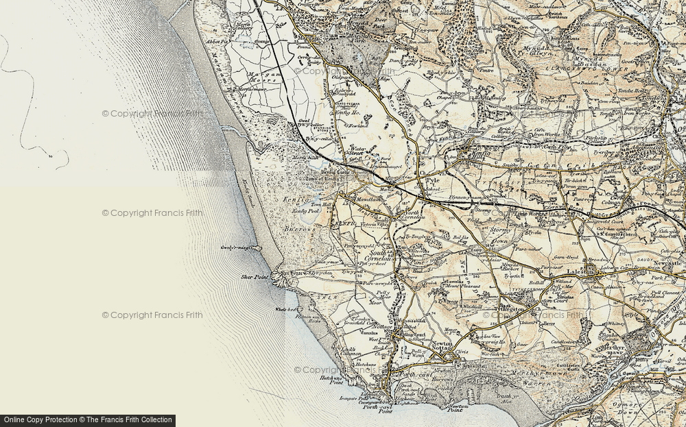 Old Map of Kenfig, 1900-1901 in 1900-1901