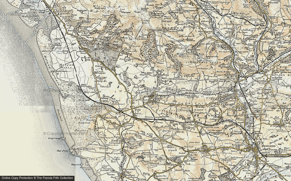 Old Map of Kenfig Hill, 1900-1901 in 1900-1901