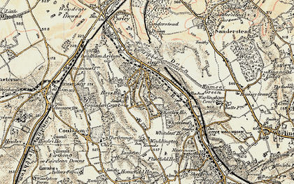 Old map of Kenley in 1897-1902