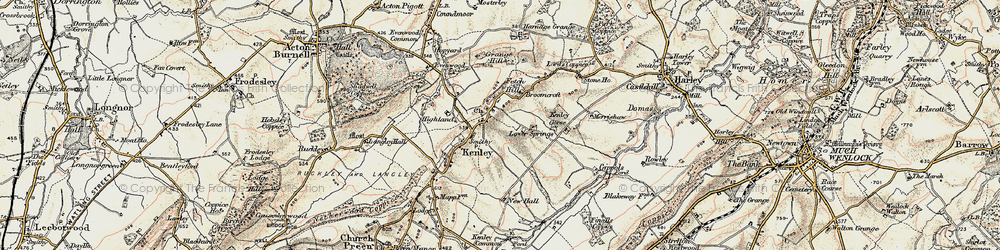 Old map of Kenley in 1902