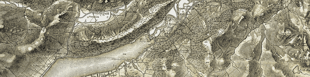 Old map of Tombuie Cottage in 1906-1908