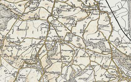 Old map of Whitcombe in 1899