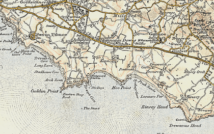 Old map of Kenneggy in 1900