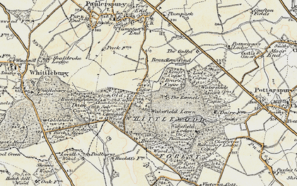 Old map of Whittlewood Forest in 1898-1901