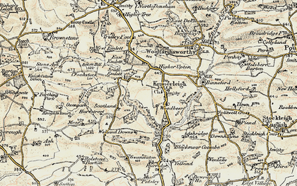 Old map of Kennerleigh in 1899-1900