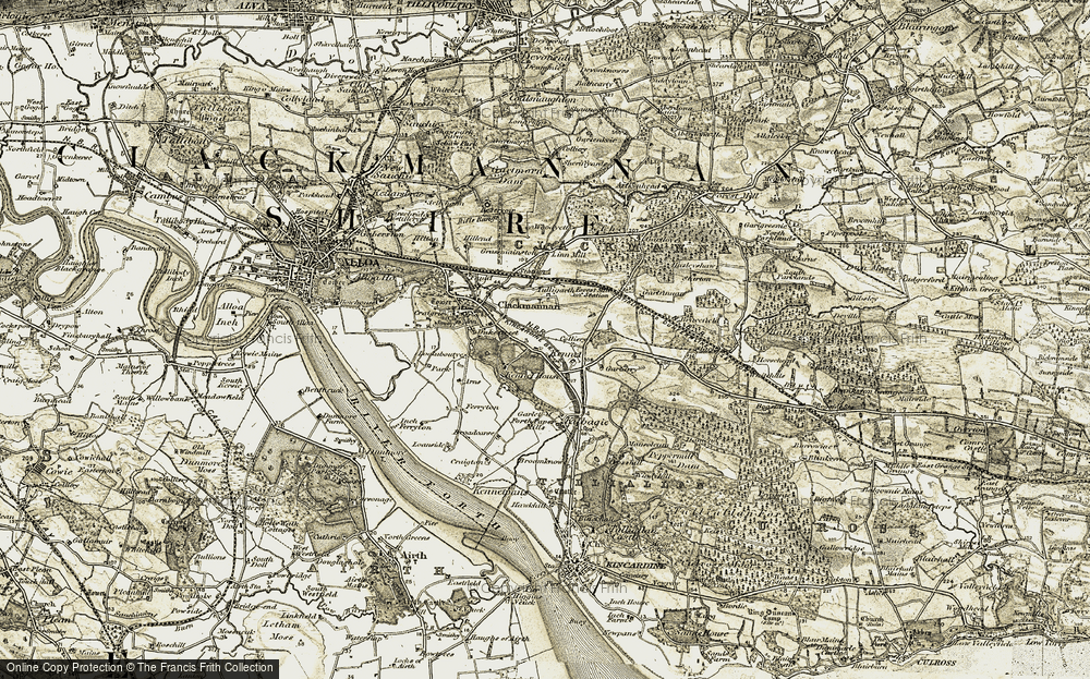 Old Map of Historic Map covering Linn Mill in 1904-1906