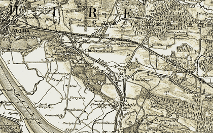 Old map of Linn Mill in 1904-1906