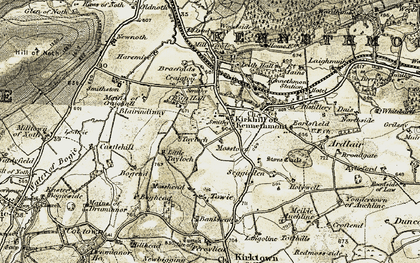 Old map of West Tayloch in 1908-1910