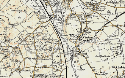 Old map of Bagley Wood in 1897-1899