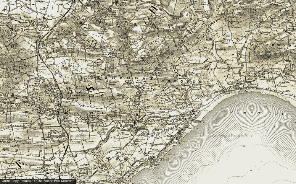 Old Map of Kennoway, 1903-1908 in 1903-1908