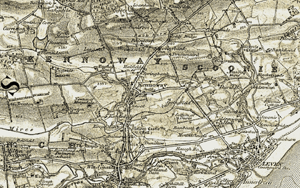 Old map of Wester Durie in 1903-1908