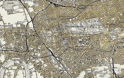 Old map of Kensington in 1897-1909