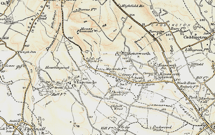 Old map of Whipsnade Heath in 1898-1899