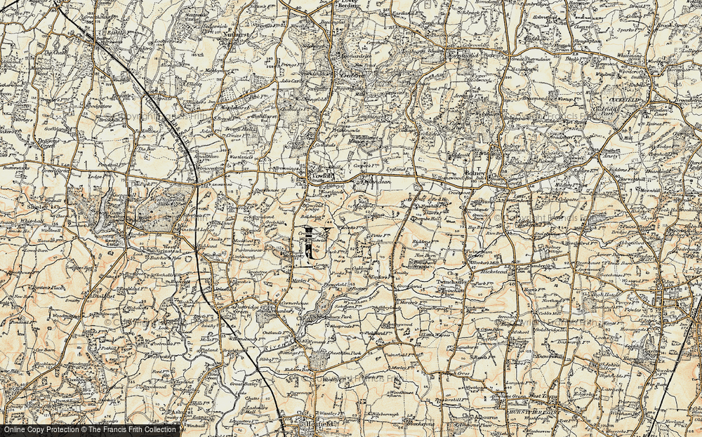 Old Map of Historic Map covering Bankfield Grange in 1898