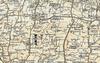 Old map of Bankfield Grange in 1898