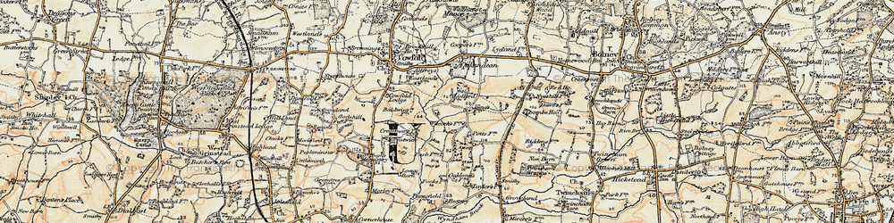 Old map of Allfreys in 1898
