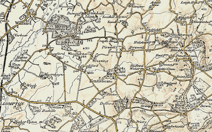 Old map of Wressing in 1898-1900