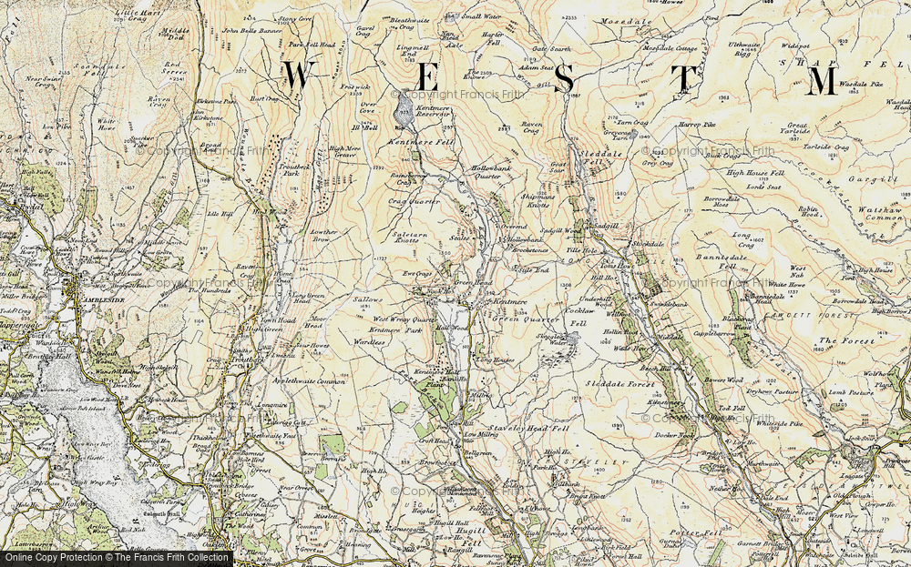 Old Map of Historic Map covering Tongue Ho (ruin) in 1903-1904