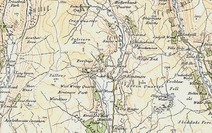 Old map of Yoke in 1903-1904