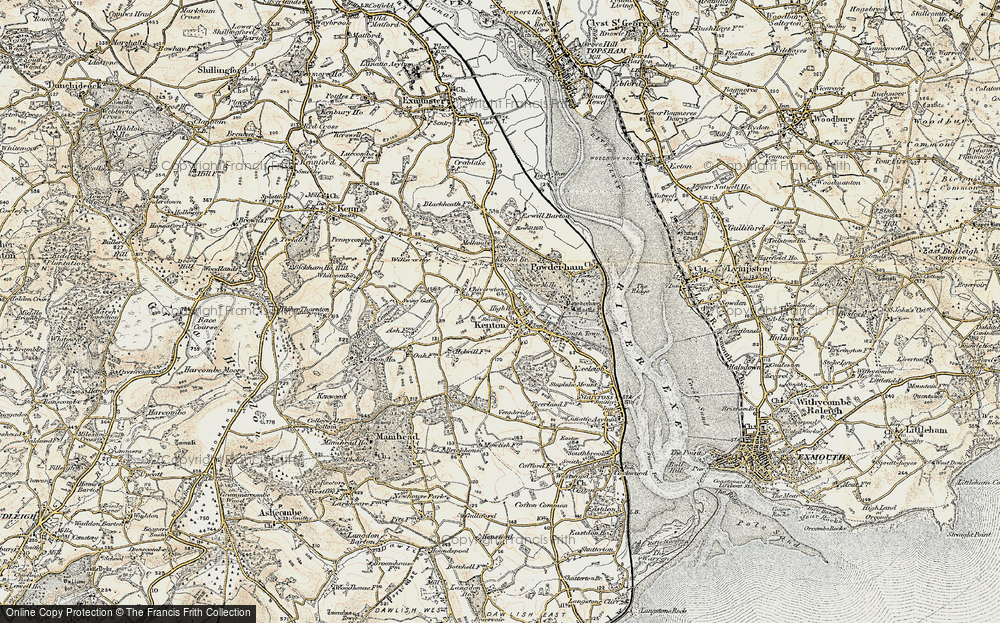 Old Map of Historic Map covering Mamhead Ho in 1899
