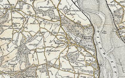 Old map of Kenton in 1899