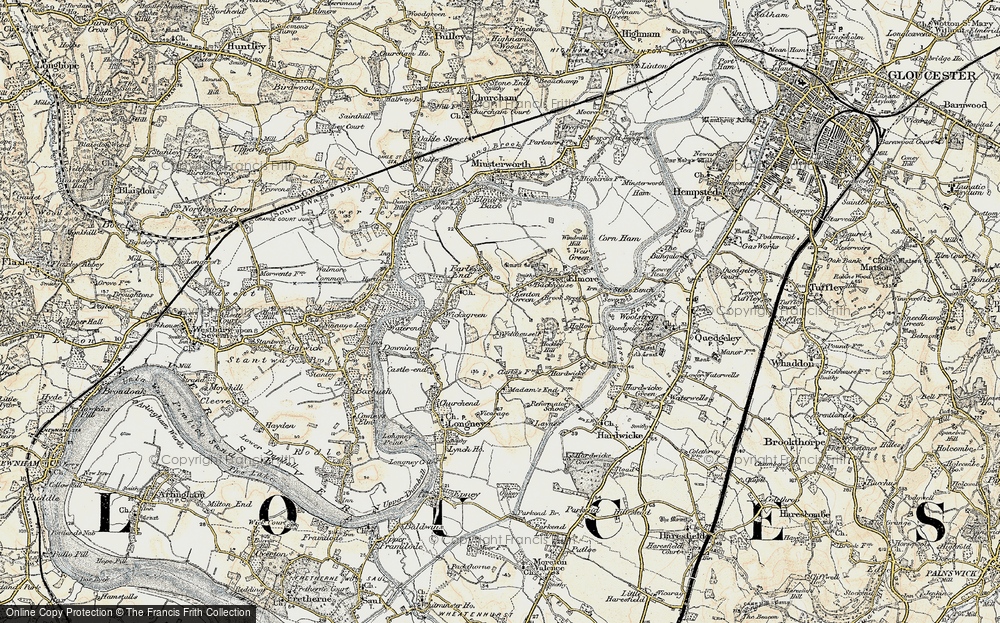 Old Map of Historic Map covering Barhouse in 1898-1900