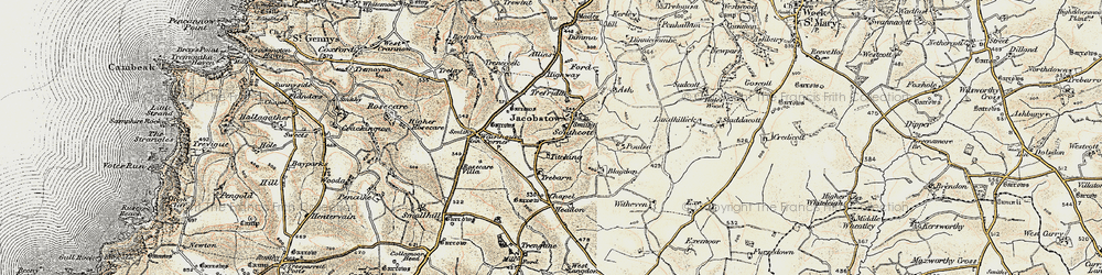 Old map of Tobarn in 1900