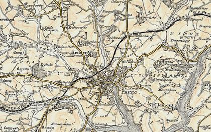 Old map of Kenwyn in 1900
