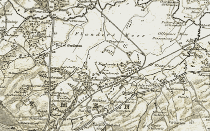 Old map of Auchentroig in 1904-1907