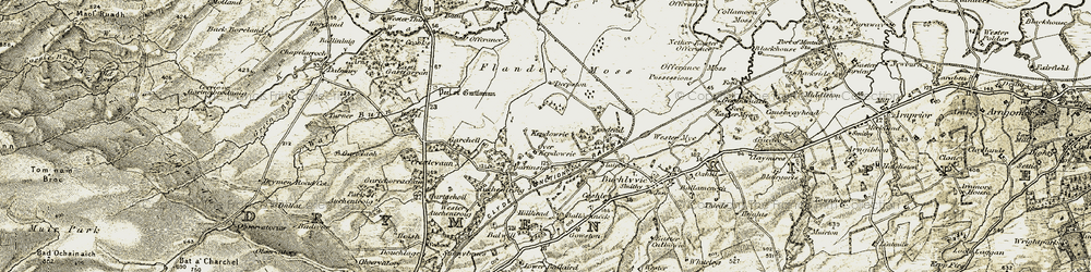 Old map of Woodend in 1904-1907