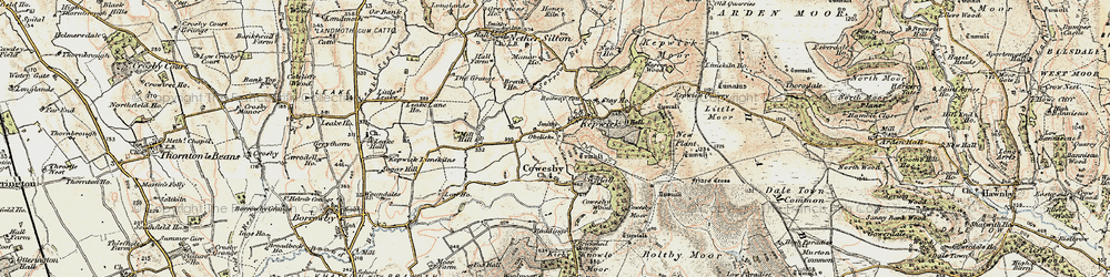 Old map of Whitestone Scar in 1903-1904
