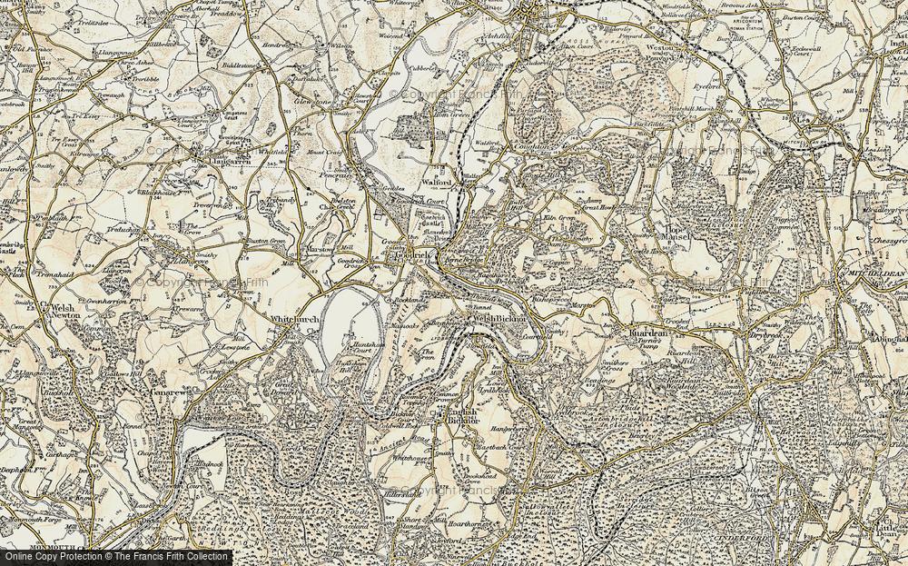 Old Map of Kerne Bridge, 1899-1900 in 1899-1900