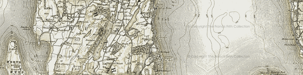 Old map of Kerrycroy in 1906