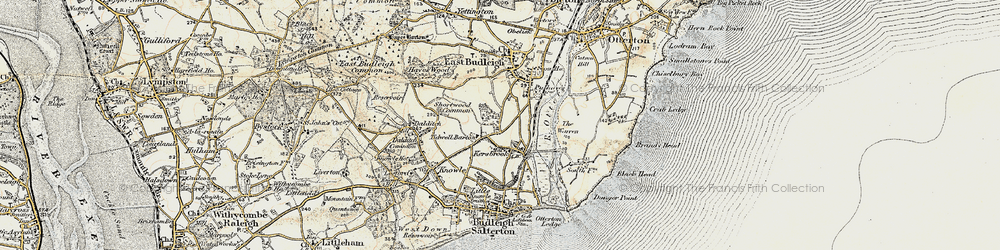 Old map of Tidwell Ho in 1899
