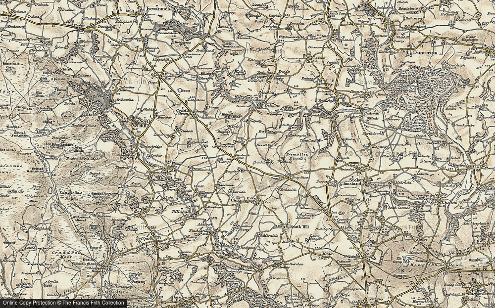 Old Map of Historic Map covering Lanhargy in 1899-1900