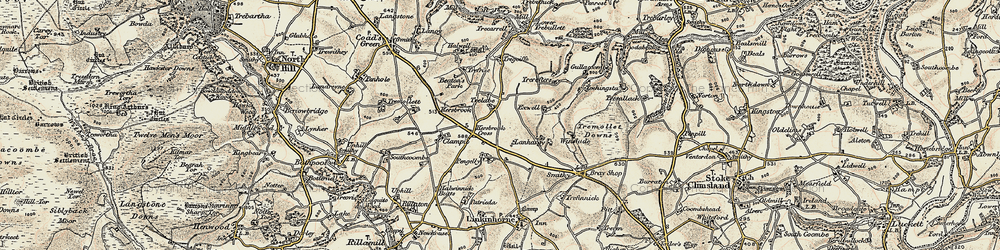 Old map of Winslade in 1899-1900