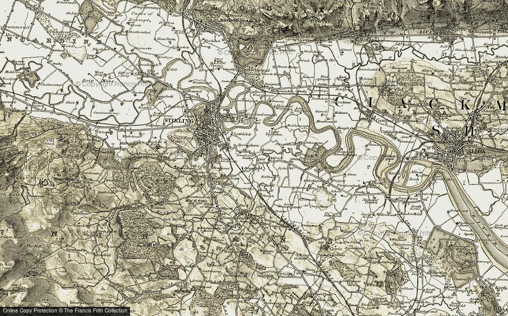 Old Map of Kersemill, 1904-1907 in 1904-1907