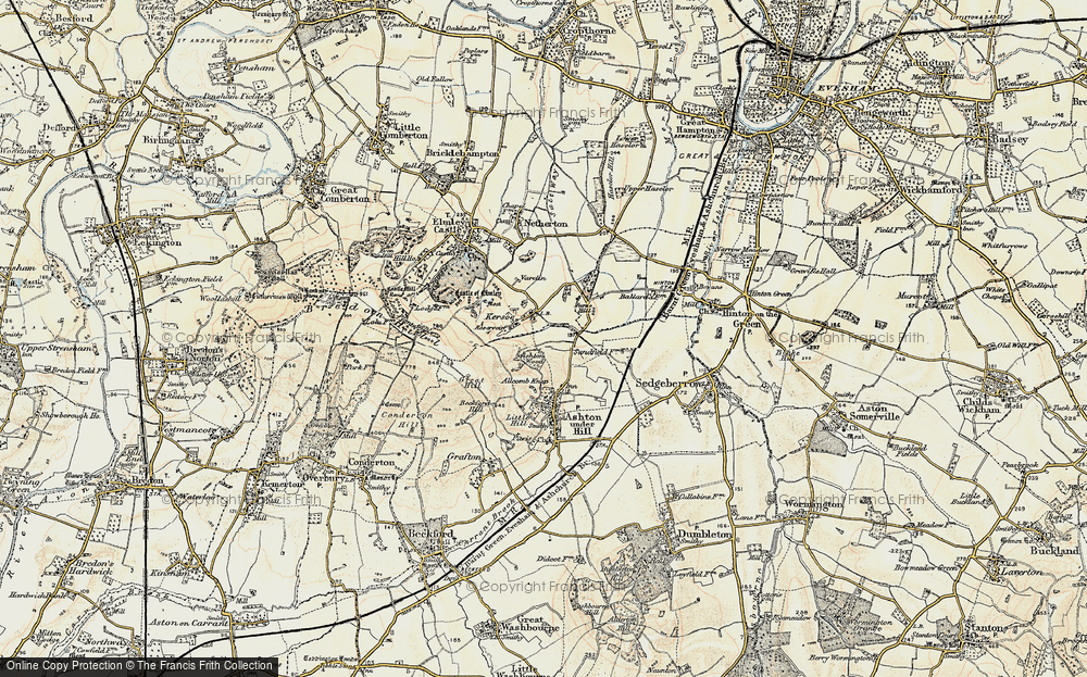 Old Map of Historic Map covering Ashton Wood in 1899-1901