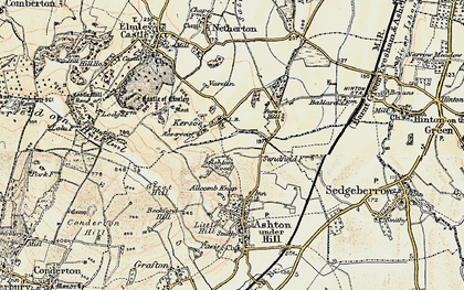 Old map of Ashton Wood in 1899-1901