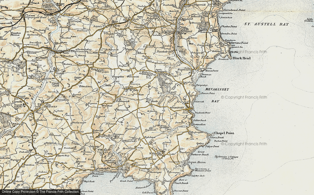 Old Map of Kestle, 1900 in 1900