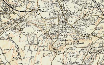 Old map of Keston in 1897-1902