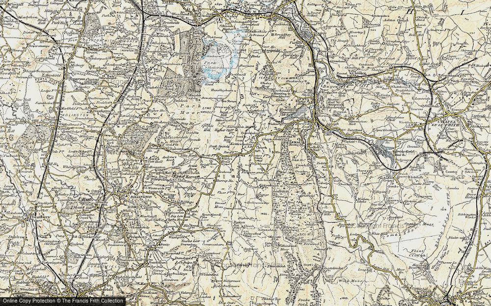 Old Map of Historic Map covering Todd Brook in 1902-1903
