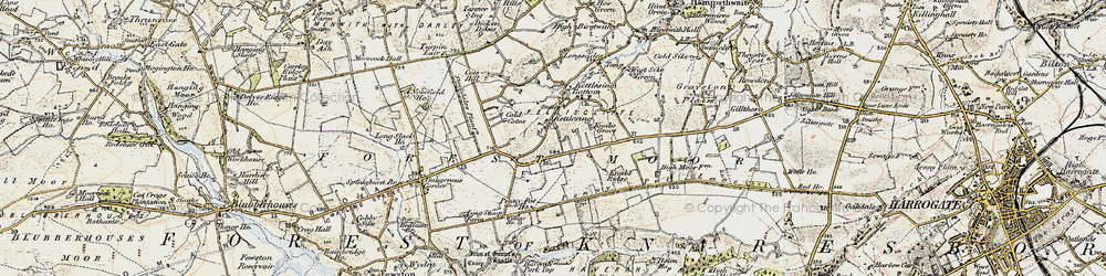 Old map of Willow Ho in 1903-1904