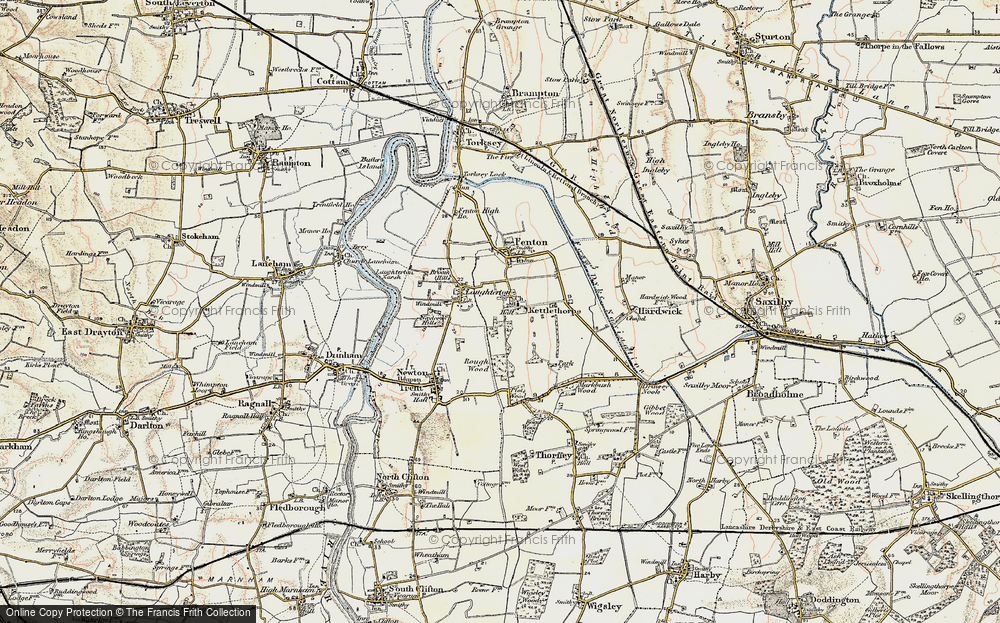 Old Map of Kettlethorpe, 1902-1903 in 1902-1903