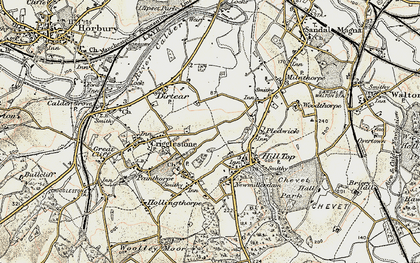 Old map of Kettlethorpe in 1903