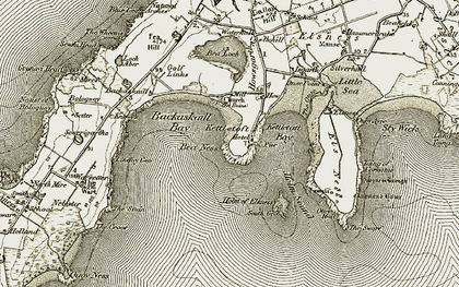 Old map of Augmund Howe (Cairn) in 1912