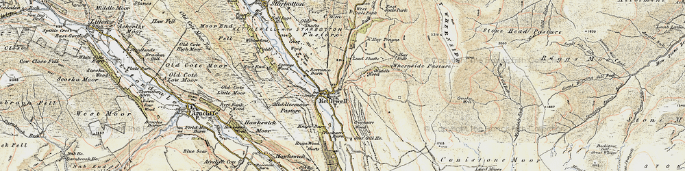 Old map of Whernside Pasture in 1903-1904