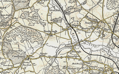 Old map of Kexbrough in 1903