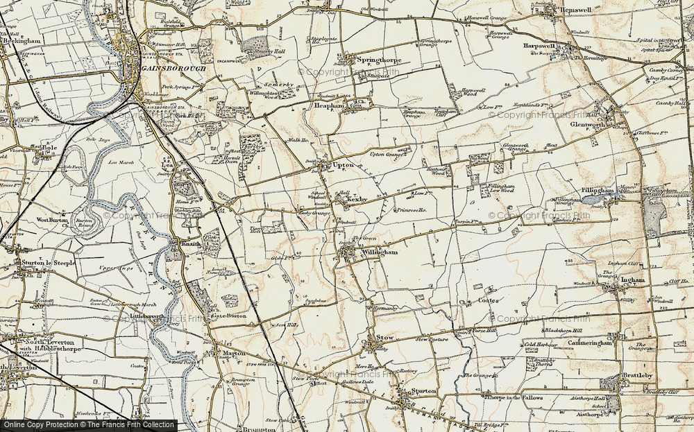 Old Map of Kexby, 1902-1903 in 1902-1903