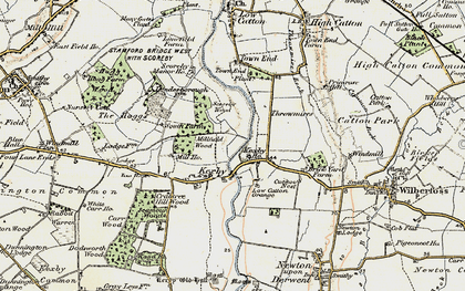Old map of Kexby in 1903